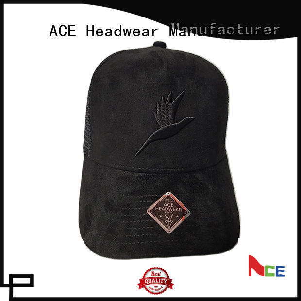 ACE logo classic trucker cap OEM for fashion
