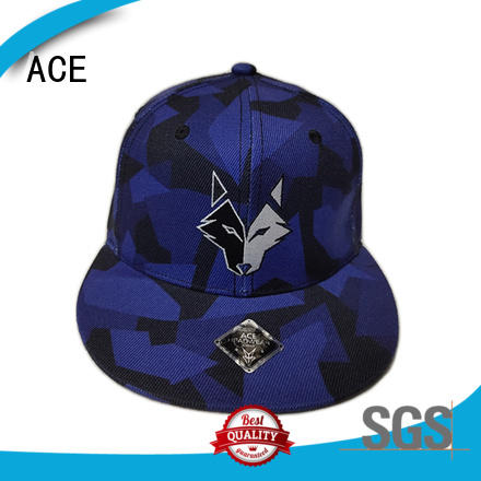 latest blue snapback hat plain customization for fashion