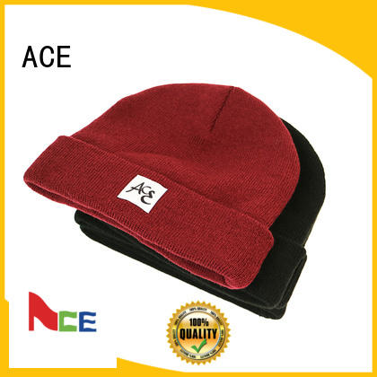 funky red knit beanie basic buy now for beauty