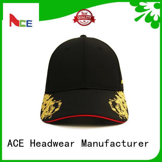 ACE odm plain baseball caps for wholesale for fashion
