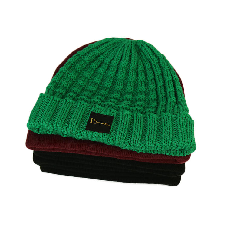 funky red knit beanie basic buy now for beauty-1