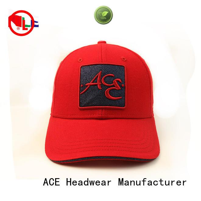 ACE cap black baseball cap mens customization for baseball fans
