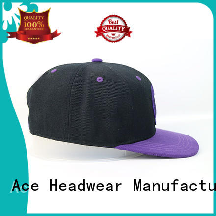 ACE portable white snapback hat for wholesale for fashion