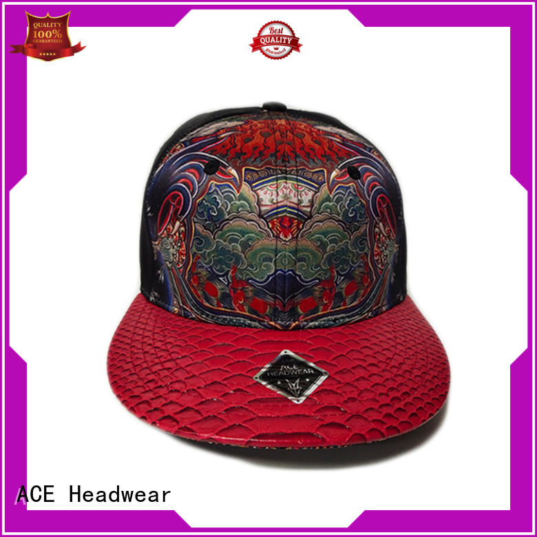 ACE grey mens snapback hats bulk production for beauty