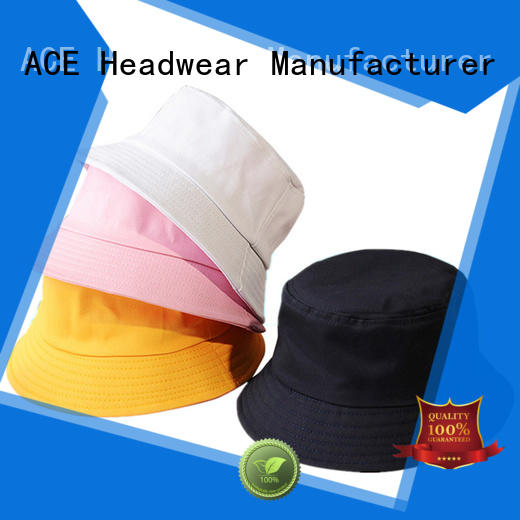 ACE Breathable bucket hat with string OEM for fashion
