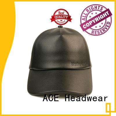 ACE string black baseball cap mens bulk production for baseball fans