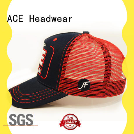 ACE leather trucker cap get quote for fashion
