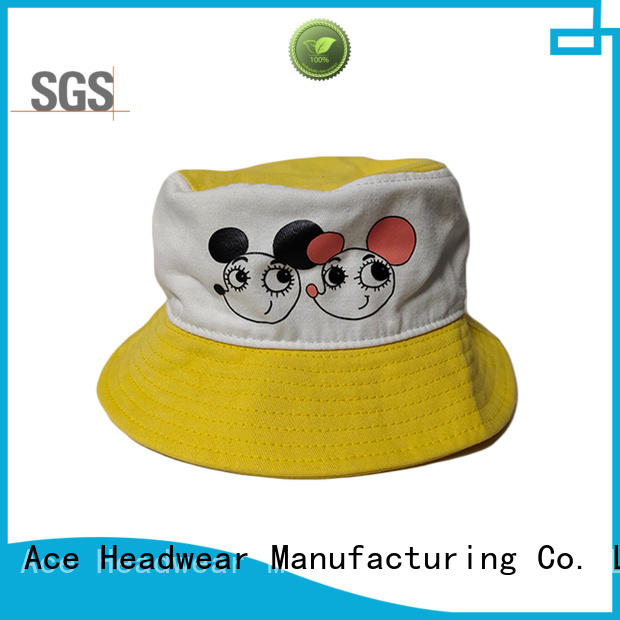 ACE at discount white bucket hat buy now for fashion