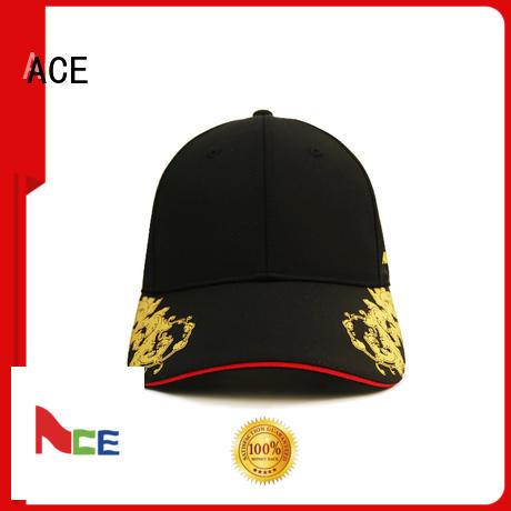 ACE satin baseball cap bulk production for baseball fans