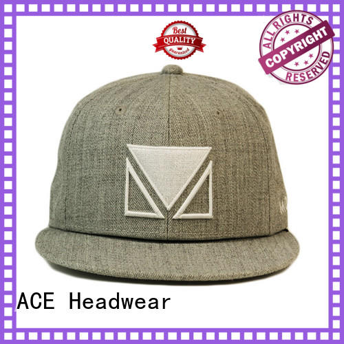 ACE print snapback cap for wholesale for fashion