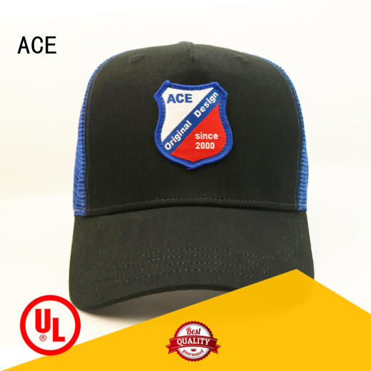 ACE yellow trucker cap customization for beauty