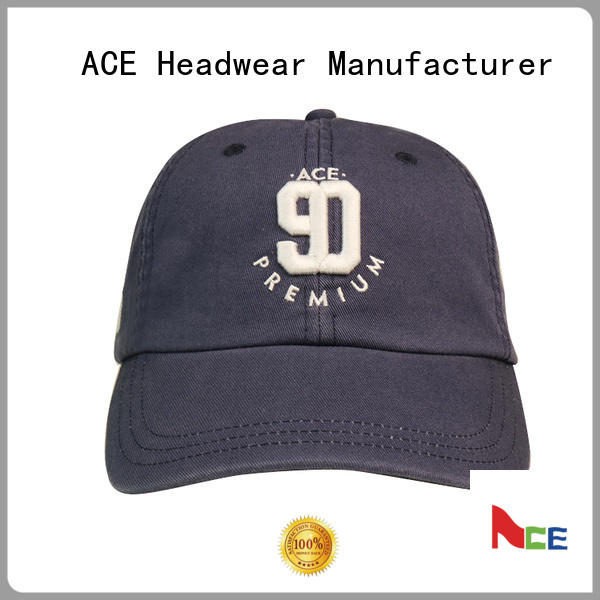 ACE durable blank baseball caps supplier for fashion