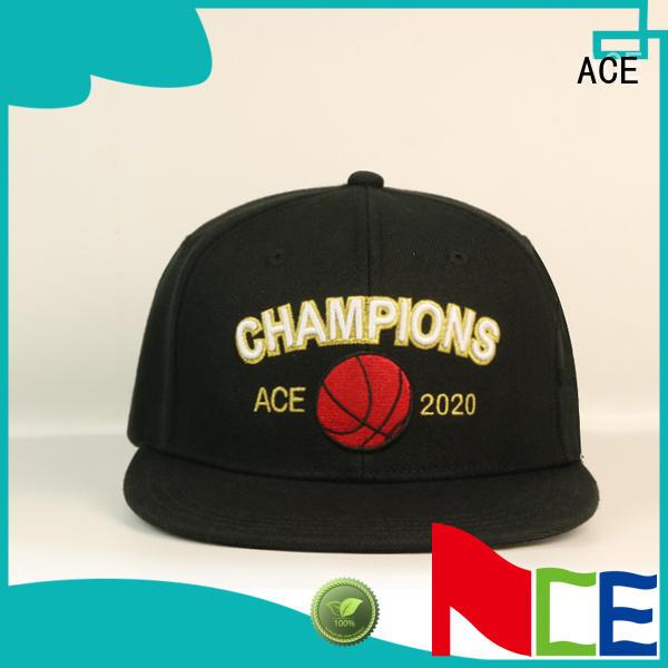 ACE kinds grey snapback hat customization for fashion
