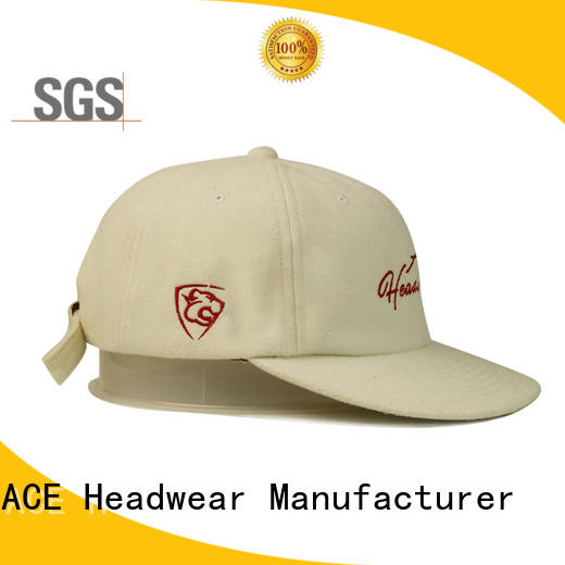 ACE stylish leather baseball cap for wholesale for beauty
