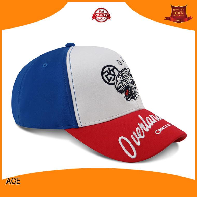 ACE durable black baseball cap mens bulk production for baseball fans