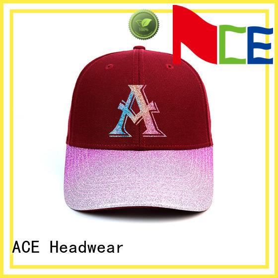 ACE plastic kids baseball caps customization for fashion