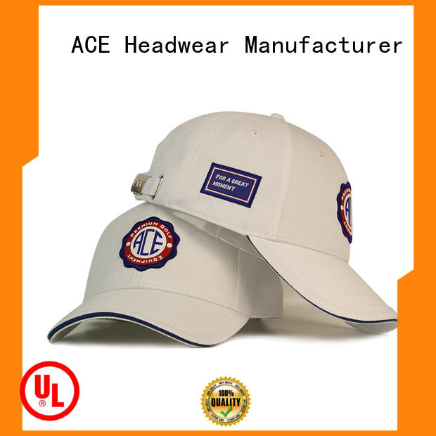 ACE patch black baseball cap mens for wholesale for baseball fans