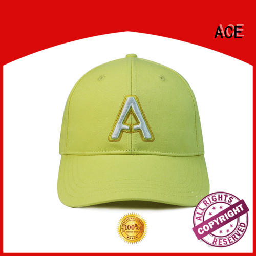 ACE caps baseball cap with embroidery bulk production for fashion