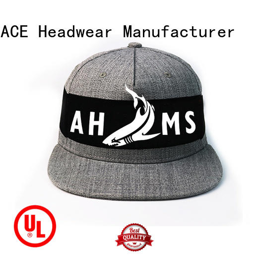 ACE durable snapback hat brands customization for fashion
