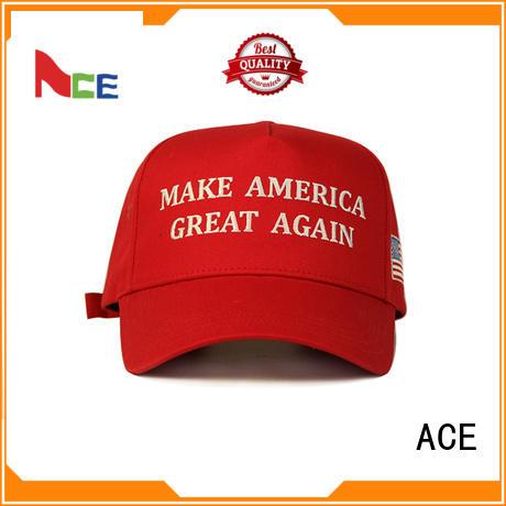 ACE fabric types of baseball caps OEM for baseball fans