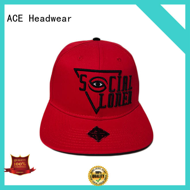 ACE decoration cool snapback caps supplier for fashion