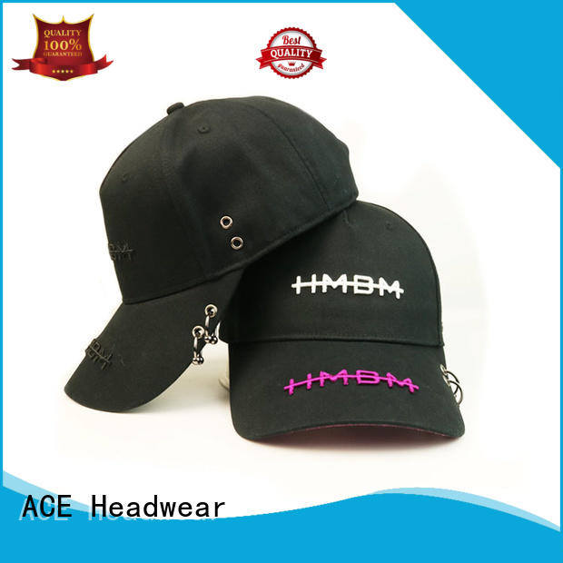 ACE high-quality black baseball cap mens ODM for baseball fans