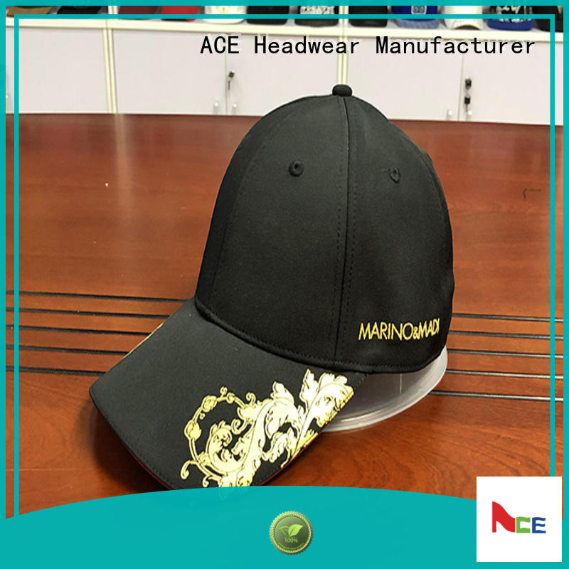 ACE Breathable blank baseball caps for wholesale for beauty