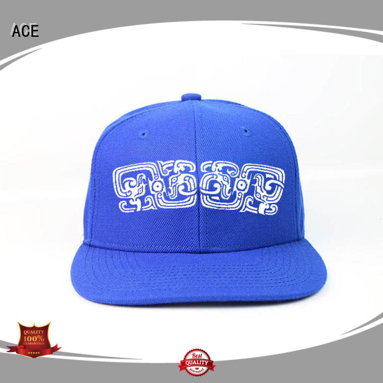 ACE latest grey snapback hat get quote for fashion