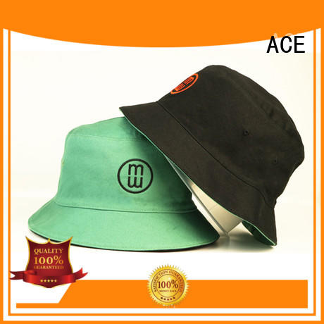 ACE funny white bucket hat customization for beauty