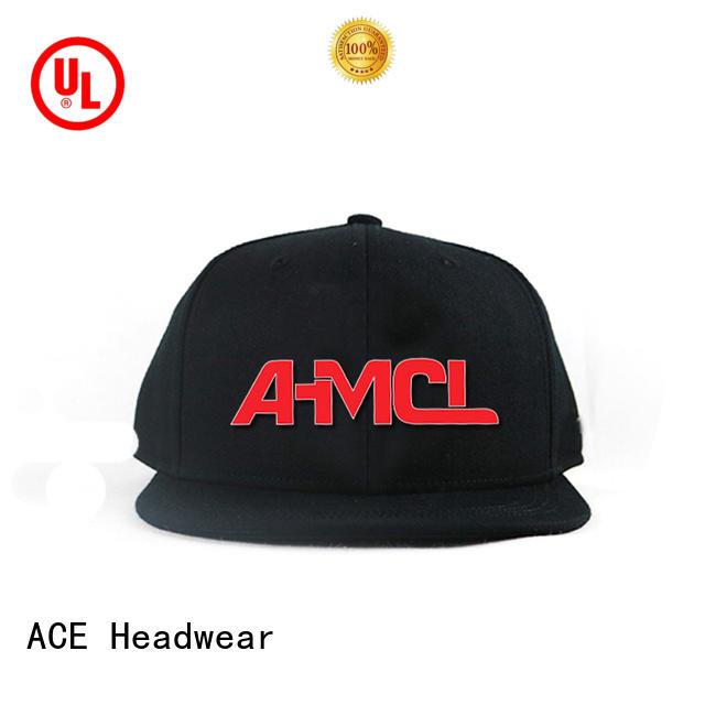 ACE latest mens black snapback hats bulk production for beauty