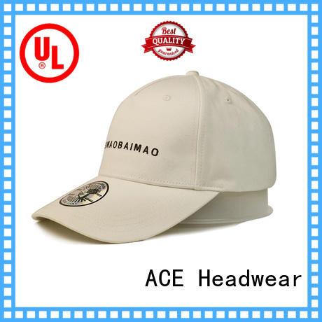 ACE unisex green baseball cap OEM for fashion