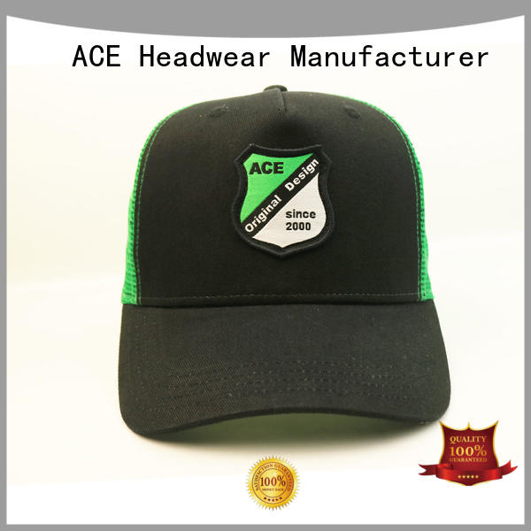 ACE durable cool trucker caps supplier for fashion
