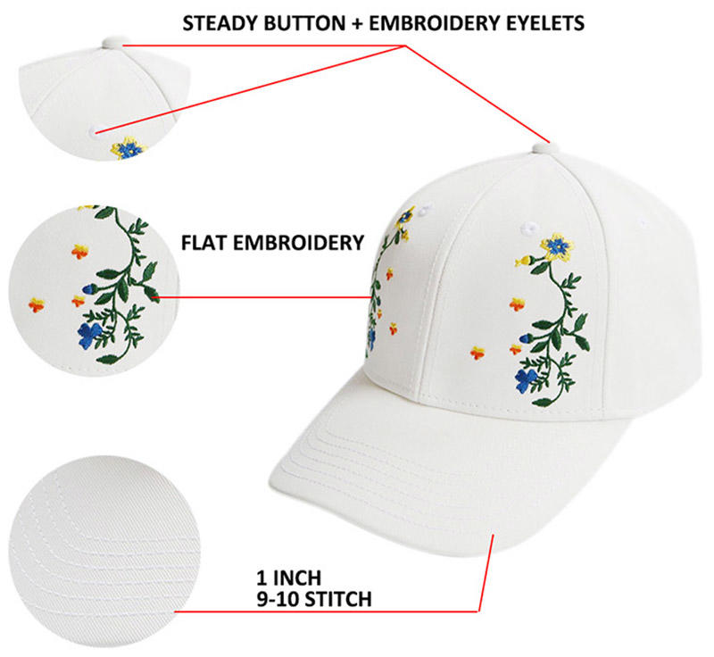 Breathable fashion baseball caps oem customization for beauty-1