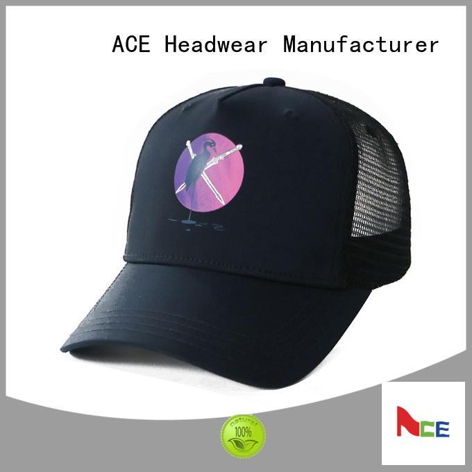 mesh grey trucker cap bulk production for Trucker ACE