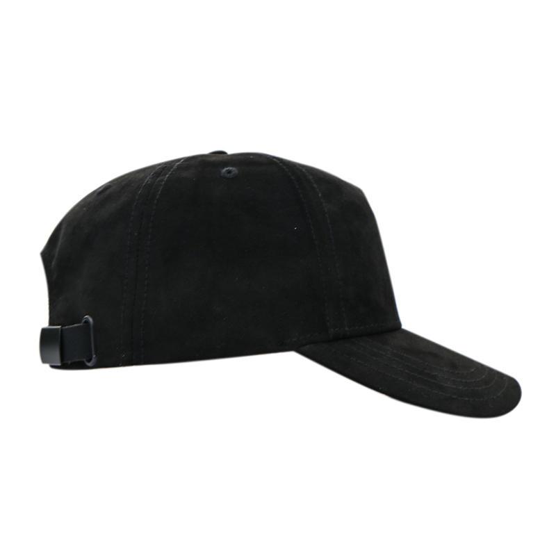 Flat Embroidery Flower Black Baseball Cap