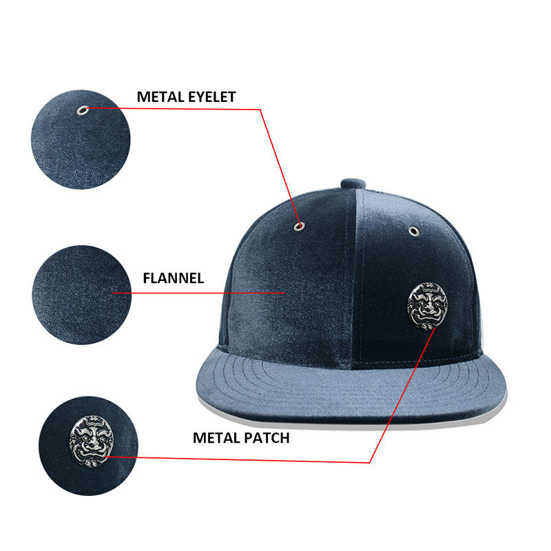 Metal Chapter 6 Panel Snapback Caps