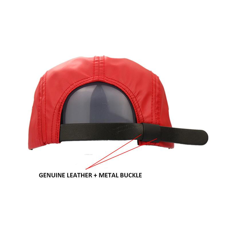 Red 5 Panel Pringting Tiger Snapback Caps