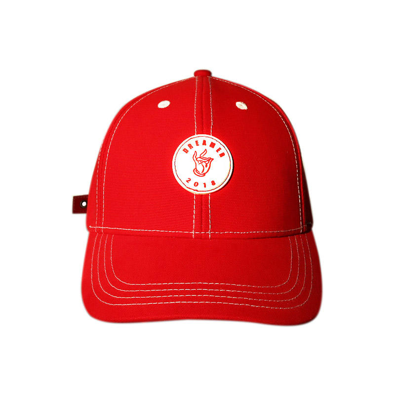 Fashion 3D Plastic Patch Adjustable Strap Baseball Cap