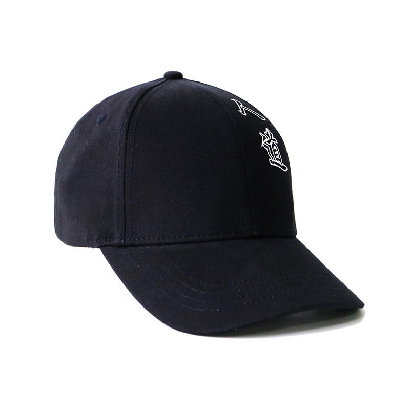 3D Plastic Patch Adjustable Strap black Baseball Cap