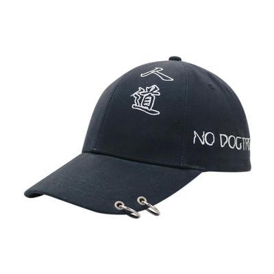 3D Plastic Patch Adjustable Strap black Baseball Cap