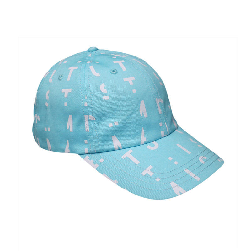 Customized Sky Blue Printing Dad hat