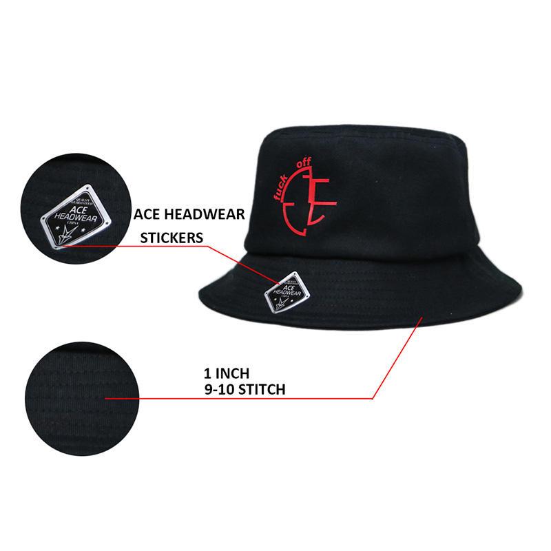 Wholesale 100% Cotton Custom Bucket Hats
