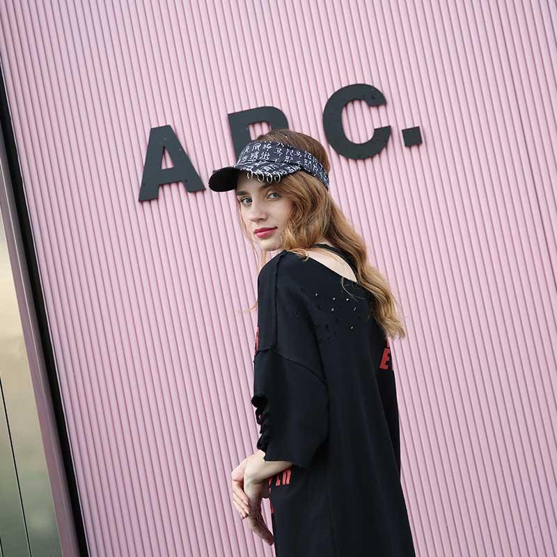 funky white sun visor hat visor free sample for fashion-3