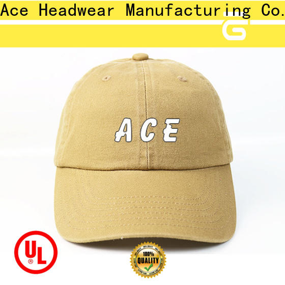 ACE fashion embroidered baseball caps customization for beauty