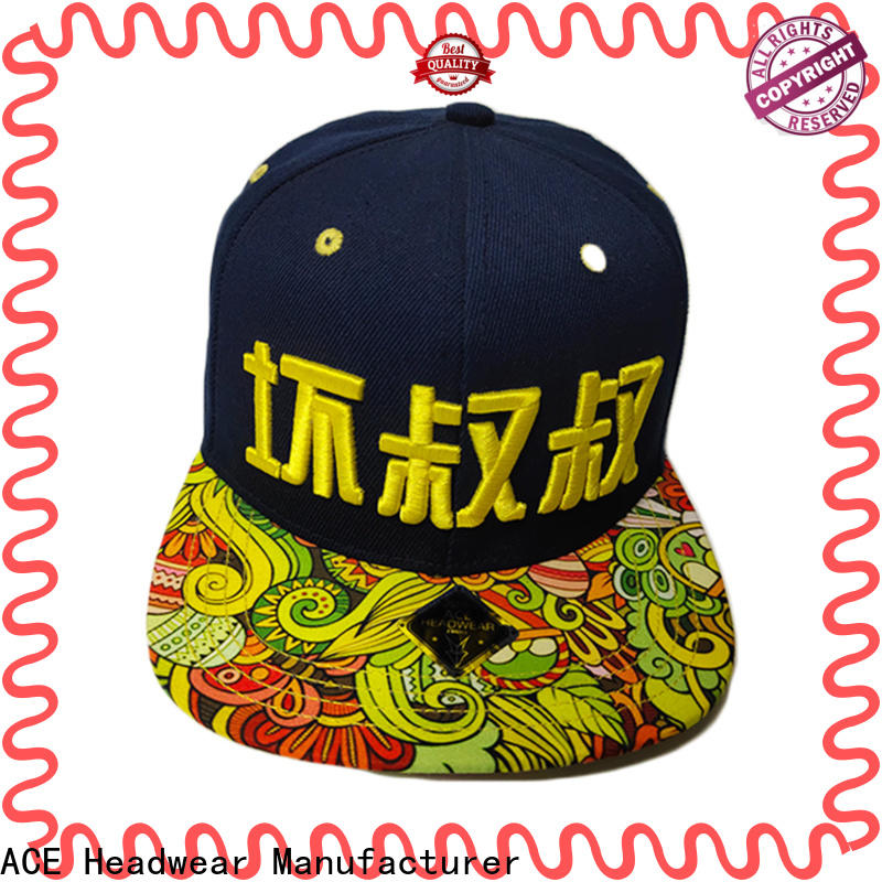 ACE Breathable snapback cap buy now for fashion