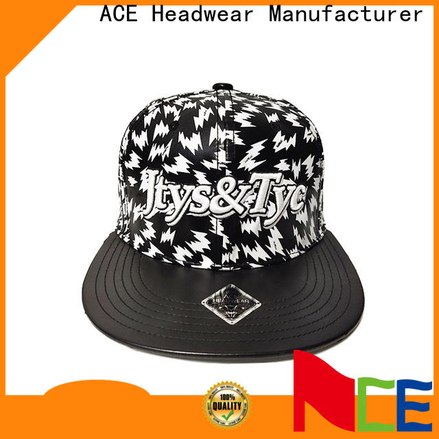 ACE on-sale youth snapback hats free sample for fashion