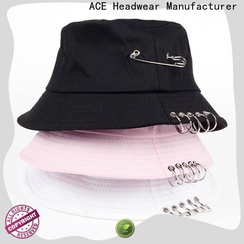 ACE novelty custom bucket hats bulk production for beauty