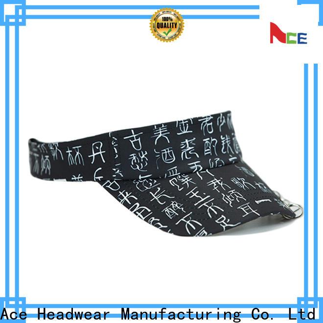 ACE durable wholesale sun visors bulk production for fashion