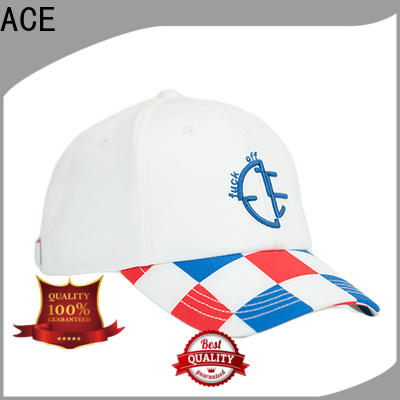 funky baseball cap with embroidery printing OEM for beauty