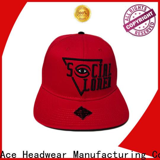 ACE logo snapback cap free sample for beauty